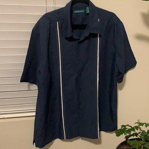 Navy soft button up short sleeve Bundle & save 🤗